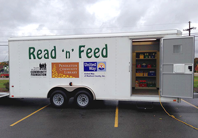 Read'n'Feed trailer Pendleton Community Public Library